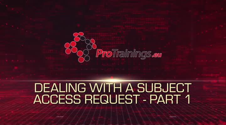 Subject Access Requests - Part 1