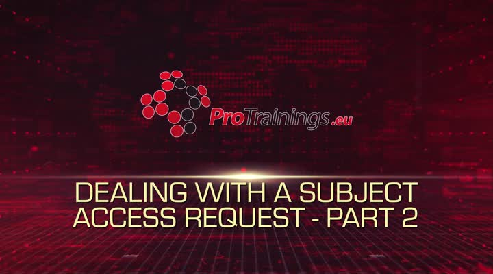 Subject Access Requests - Part 2