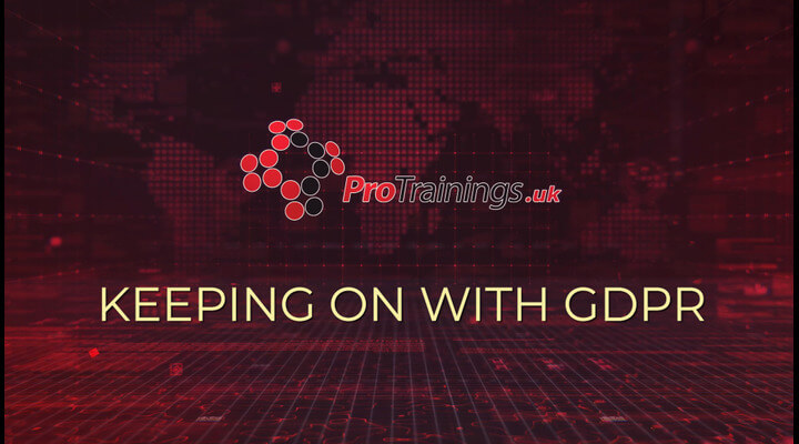 Keeping on with GDPR