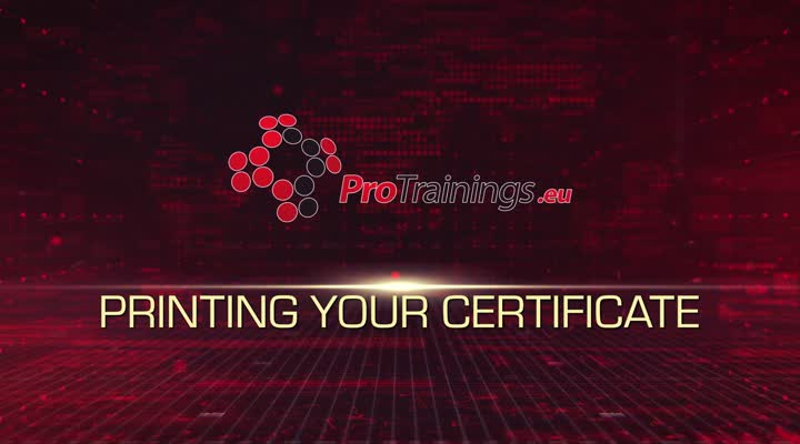 Printing your certificate