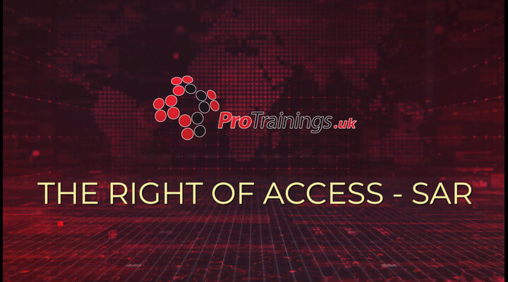 The right of access - SAR