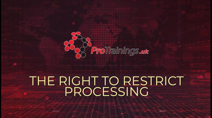 The right to restrict processing