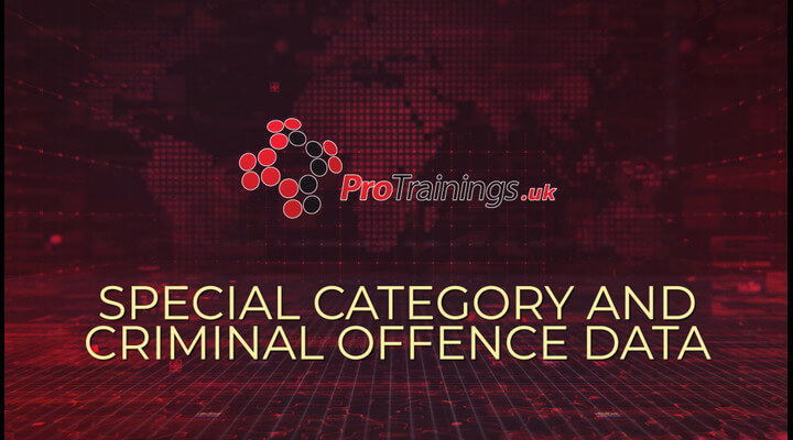 Special category and criminal offence data