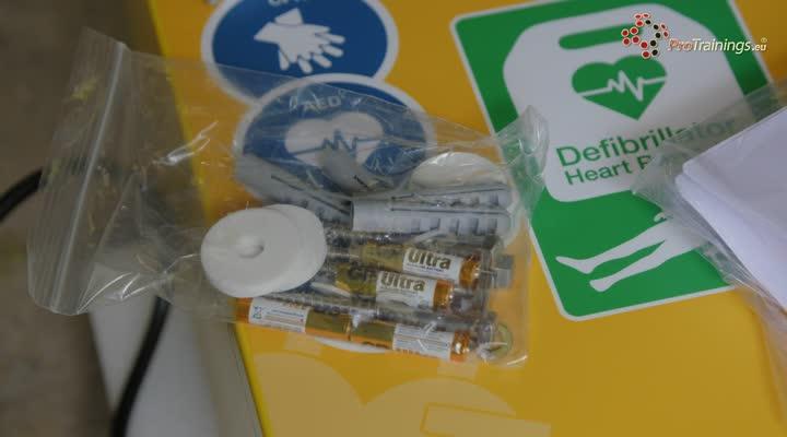 Preparing your AED cabinet