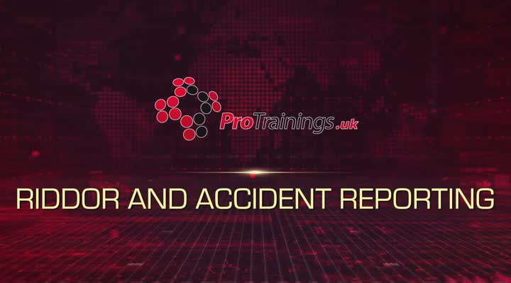 RIDDOR and accident reporting