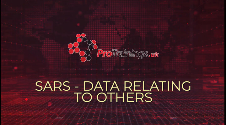 SARS - Data relating to others