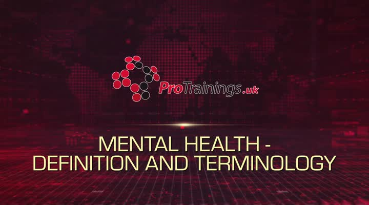 Mental Health definition and terminology