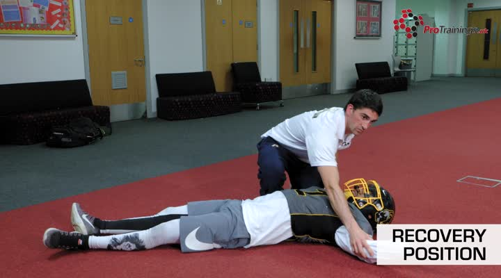Recovery position in uniform