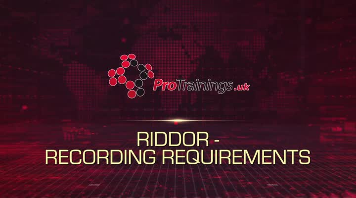 RIDDOR Recording Requirements