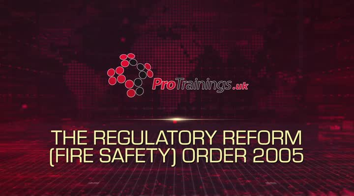 The Regulatory Reform Fire Safety Order 2005