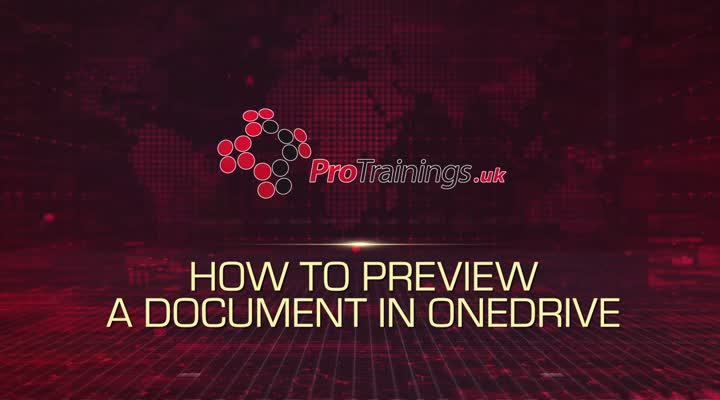 Module 4 - Preview a Document in OneDrive