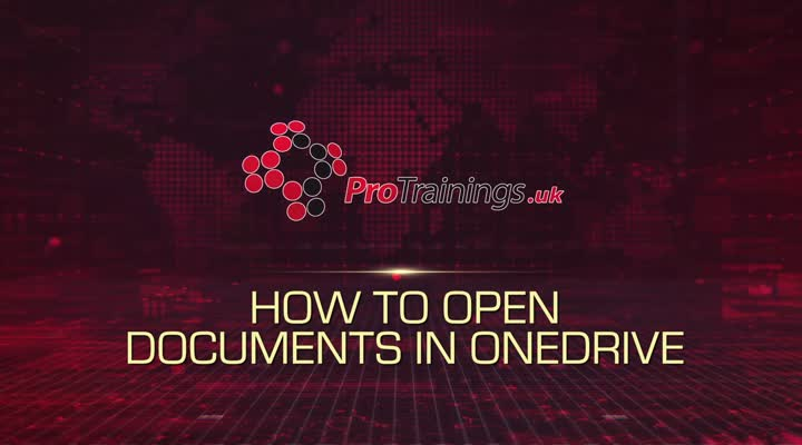 Module 5 - Opening Documents in OneDrive