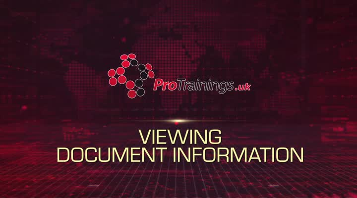 Module 7 - Viewing Document Information