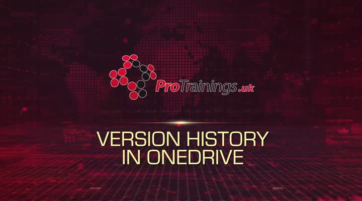 Module 8 - Version History in OneDrive