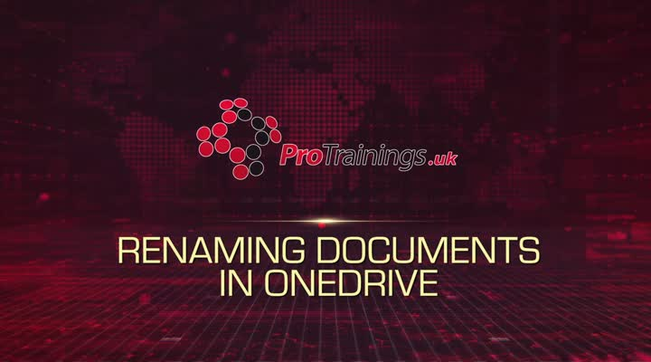 Module 9 - Renaming Documents