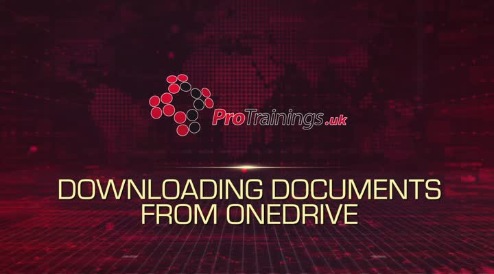 Module 12 - Downloading Documents from OneDrive