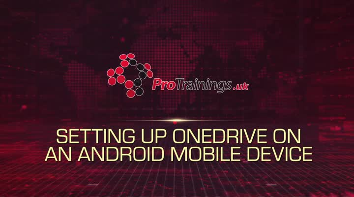 Setting up OneDrive on Android Mobile Device