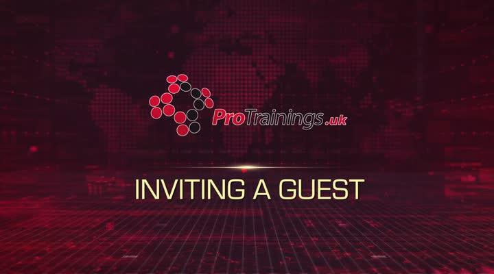 Module 3 - Inviting a Guest
