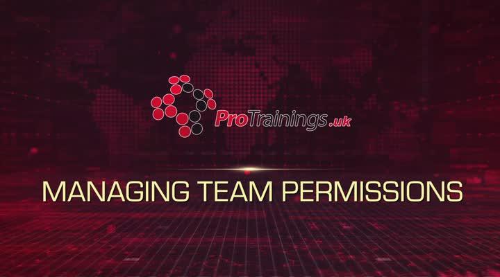 Module 4 - Managing Team Permissions