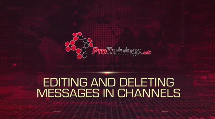 Module 7 - Editing and Deleting Messages in Channels
