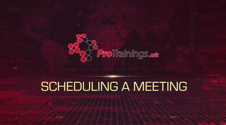 Module 8 - Scheduling a Meeting
