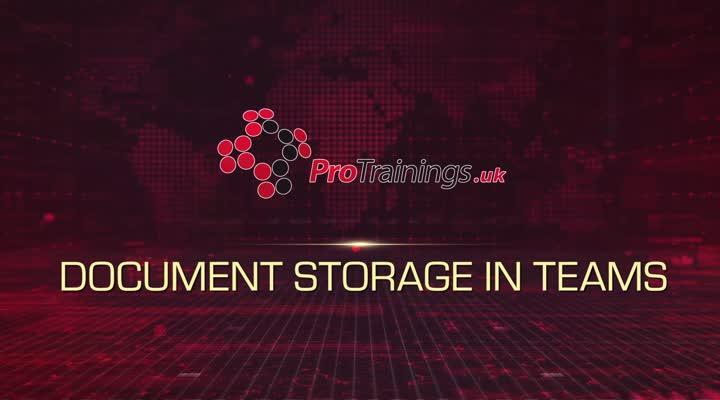 Module 12 - Document Storage in Teams