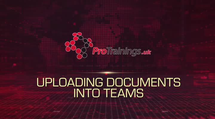 Module 14 - Uploading Documents into Teams