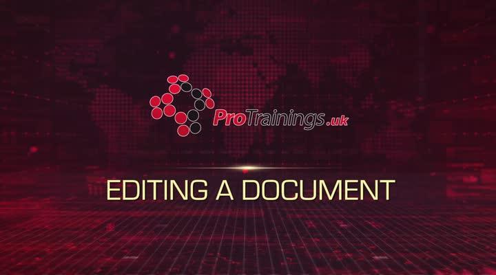 Module 15 - Editing a Document