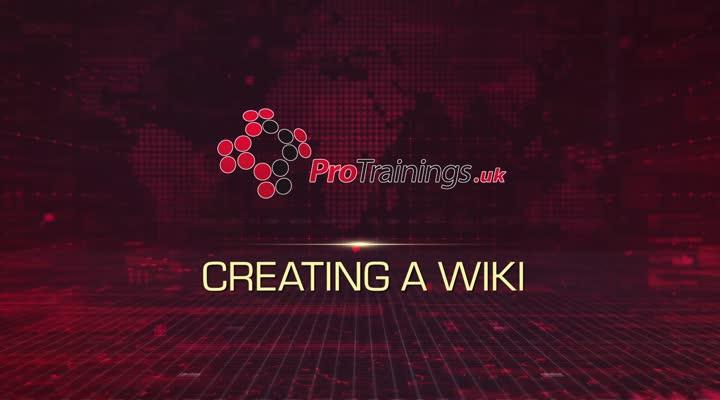 Module 18 - Creating a Wiki
