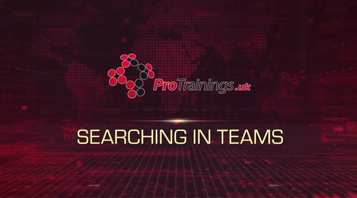 Module 20 - Searching in Teams
