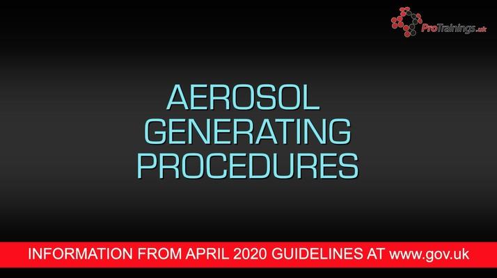 Aerosol generating procedures