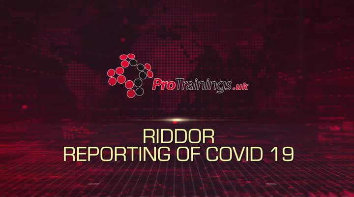 RIDDOR reporting of COVID 19
