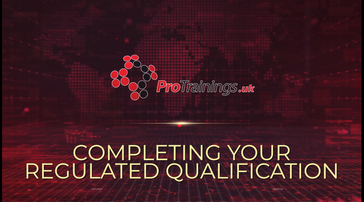 How to complete your Regulated Qualification