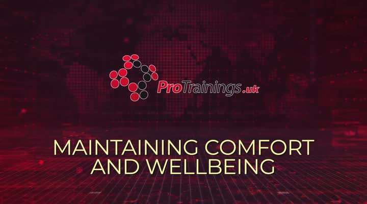 Maintaining comfort and wellbeing