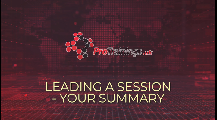 Leading a session - your summary