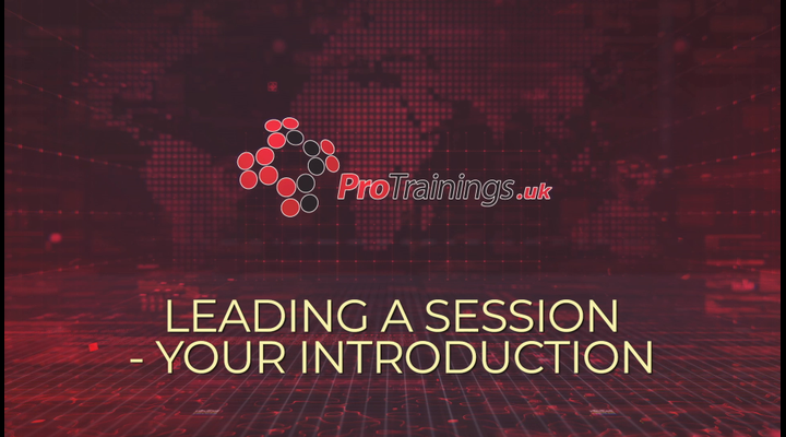 Leading a session - your introduction