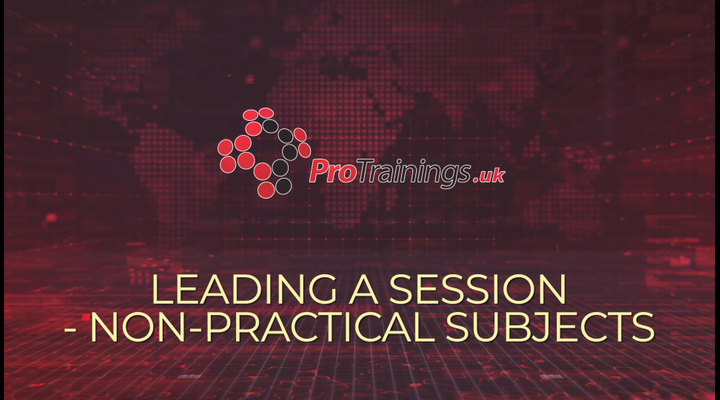 Leading a session - a non-practical subject (ideal for virtual microteach lessons)