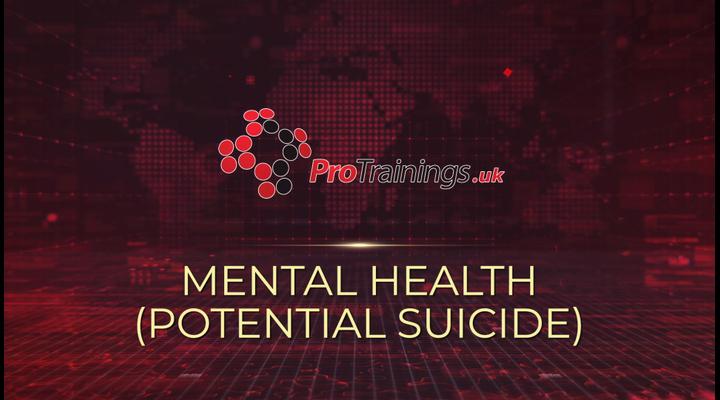 Mental health - Potential suicide