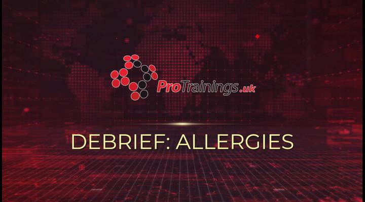 Debrief - Allergies