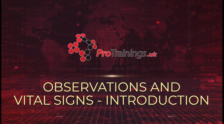 Introduction - Observations of vital signs