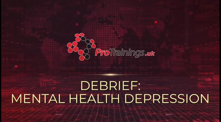 Debrief - Mental health - Depression