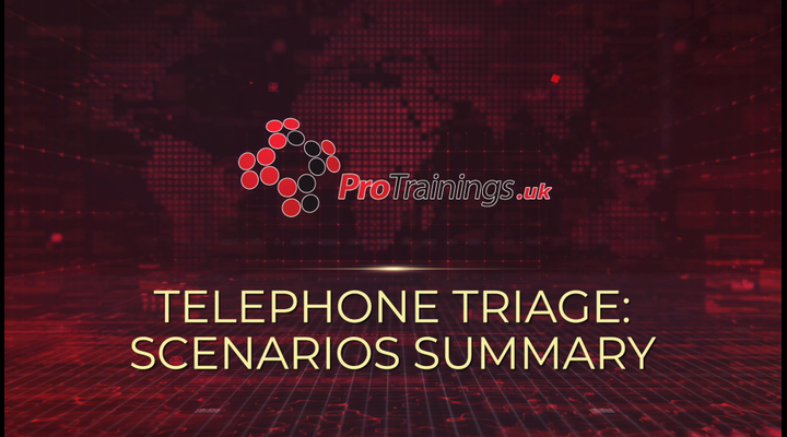 Telephone triage - Scenario summary
