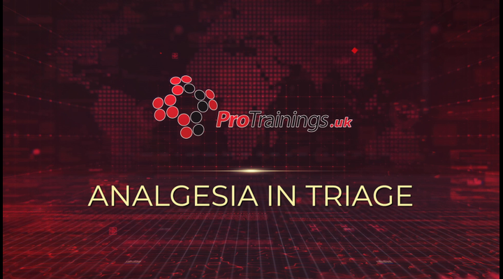 Analgesia in triage
