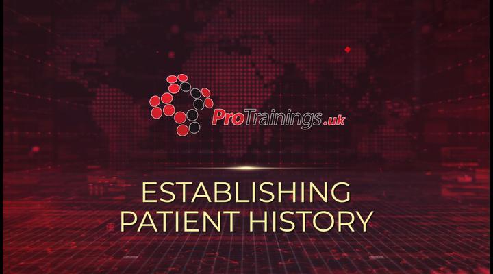 Establishing patient history