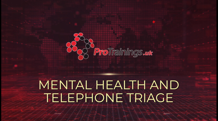 Mental health and telephone triage