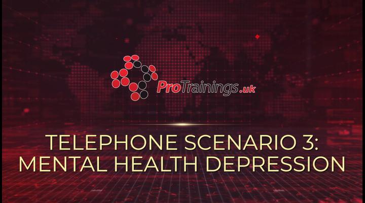 Scenario 3 - Mental health - Depression