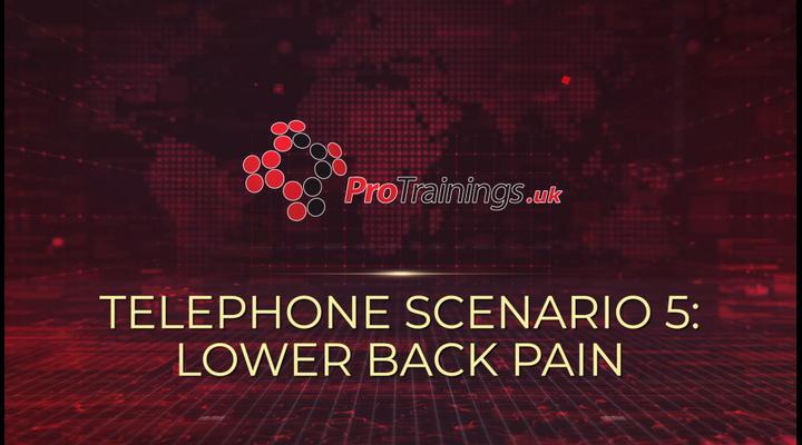 Scenario 5 - Lower back pain