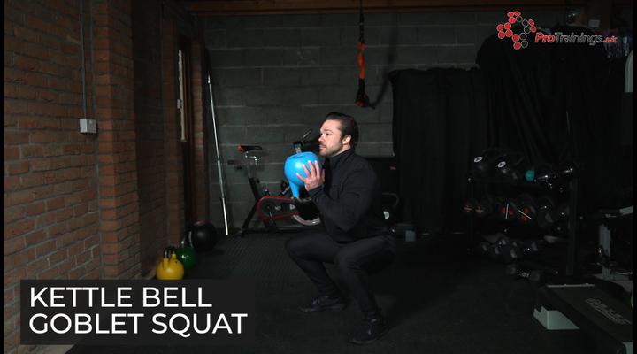 Kettle bell goblet squat