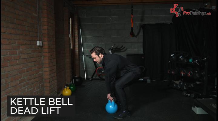 Kettle bell dead lift