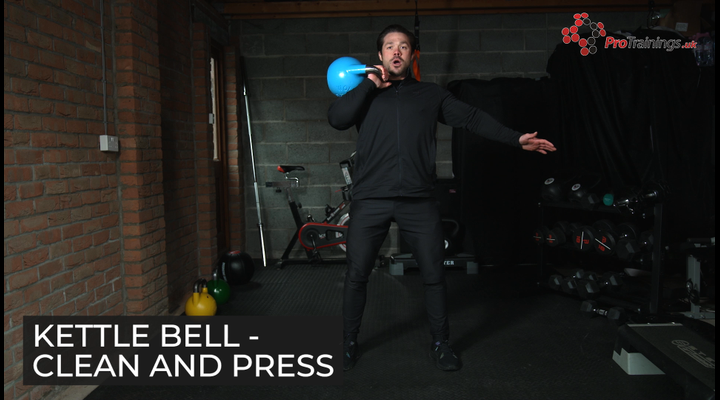 Kettle bell clean and press